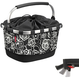 KlickFix Reisenthel Carrybag GT Bike Basket with UniKlip, fleur black